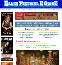 Subscribe to FREE Blues Festival E-Guide E-Newsletter