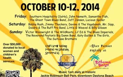 Daytona Beach, FL – Daytona Blues Festival, October 10-12, Announces Lineup