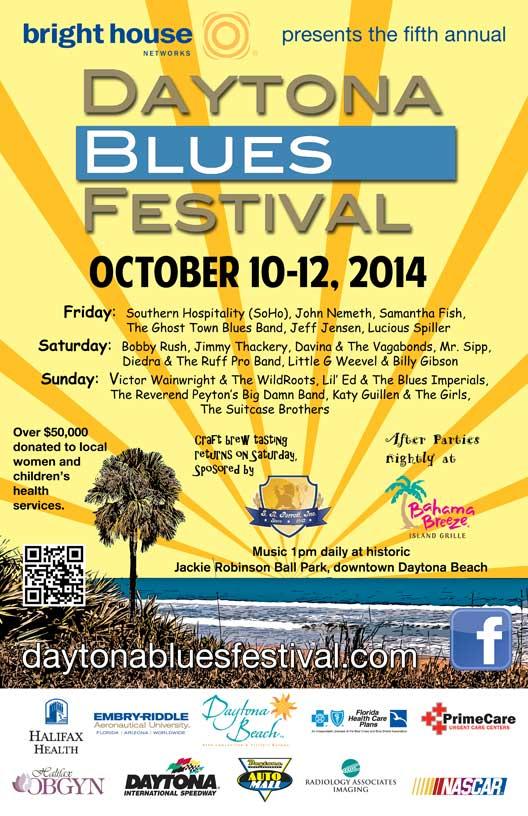 Daytona Beach Fl Blues Festival October 10 12 Announces Lineup