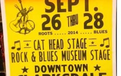 Clarksdale, Mississippi's 2nd annual Delta Busking Festival Sept 26-28, 2014