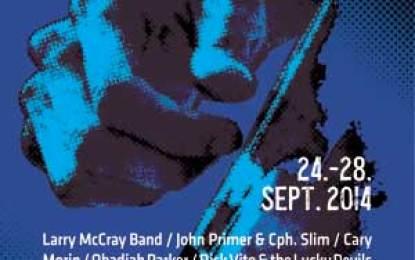 14th Copenhagen Blues Festival Sept. 24th – 28th, 2014
