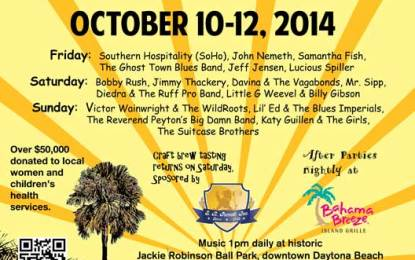 Daytona Blues Festival Coming October 10-12