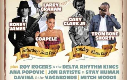 Russian River Jazz and Blues Festival with Gary Clark Jr., Trombone Shorty, and Many More! Sep 20 & 21