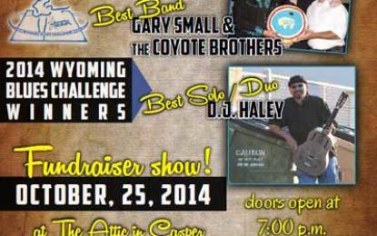 Concert fundraiser for Wyoming Blues & Jazz Society regional winners Oct 24 plus big raffle prizes