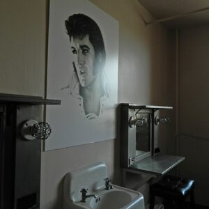 Elvis' dressing room at the Shreveport Municipal Auditorium