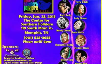 National Women in Blues Showcase, Jan 23 at The Center For Southern Folklore In Memphis
