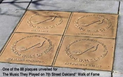 Blues Walk of Fame Unveiled in West Oakland Where the Blues Scene Sparkled