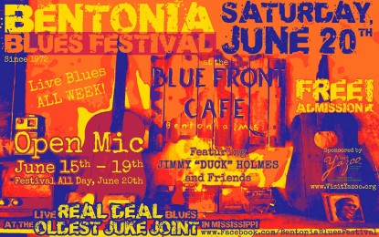Free Bentonia Blues Festival includes a week full of live blues at the Blue Front Cafe