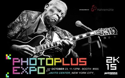 Award-Winning Photographer offers signed B.B. King prints at NY Expo Oct 23