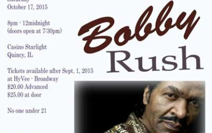 Mid-Mississippi Muddy Waters Blues Society presents Bobby Rush Oct 17