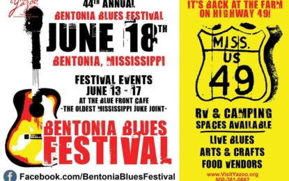 Bentonia Blues Festival Saturday, June 18, 2016