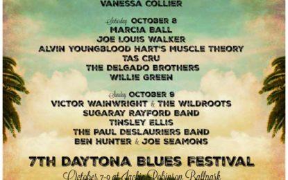 The Seventh Annual Daytona Blues Festival Returns October 7, 8 and 9