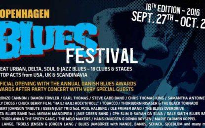 Copenhagen Blues Festival 2016 & Blues Awards Sept 28-Oct 2