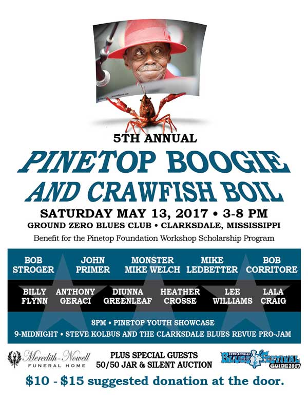 Pinetop Boogie and Crawfish Boil