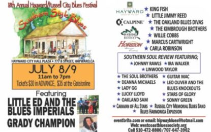 18th Annual Hayward/Russell Blues Festival July 8-9 celebrates heritage