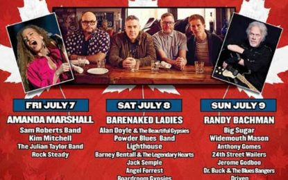Thunder Bay Blues Fest Celebrates Canada's 150th Birthday July 7, 8 & 9