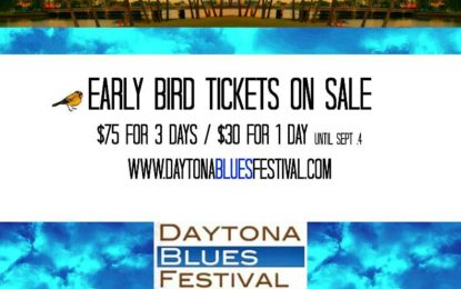 Early-Bird Ticket Pricing Ends Soon for the 2017 Daytona Blues Festival, October 6-8