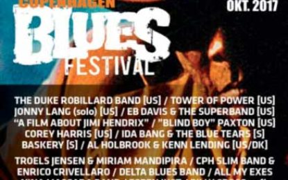 7th Copenhagen Blues Festival now through Oct 29th, 2017