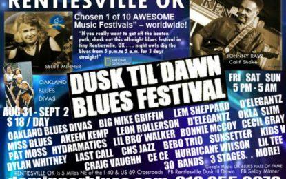 Rentiesville Dusk til Dawn Blues Festival #28 at the end of summer
