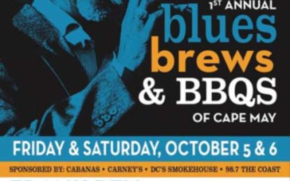 Blues, Brews and Bar-B-Q's of Cape May Music Fest Oct 5-6