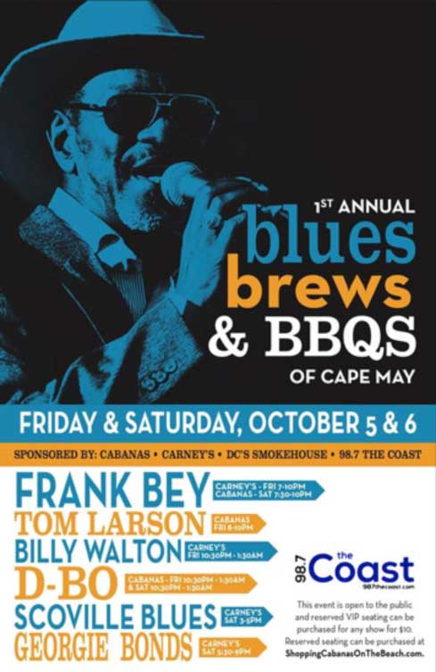 Blues, Brews and Bar B Q's of Cape May Music Fest
