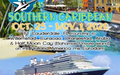 Pre-book the LRBC #35 Southern Caribbean Oct. 25-Nov. 1, 2020 starting July 25