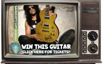Chance to Own Guitar signed by Hall of Fame artists Guns N' Roses